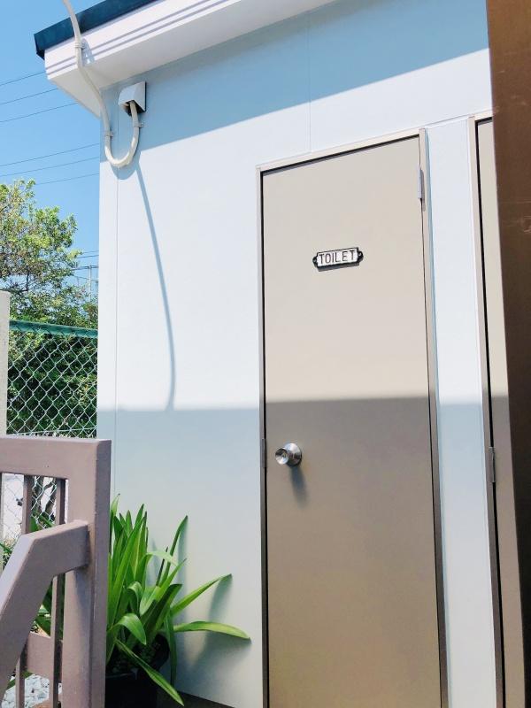 令和3年6月 屋外トイレが完成しました